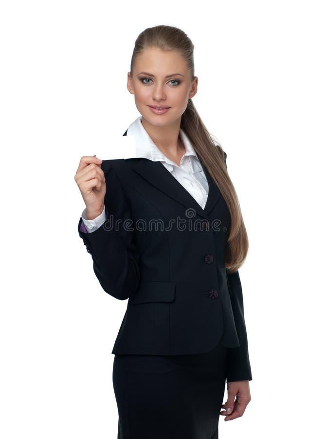 Gerente da mulher em um terno fotos de stock royalty free