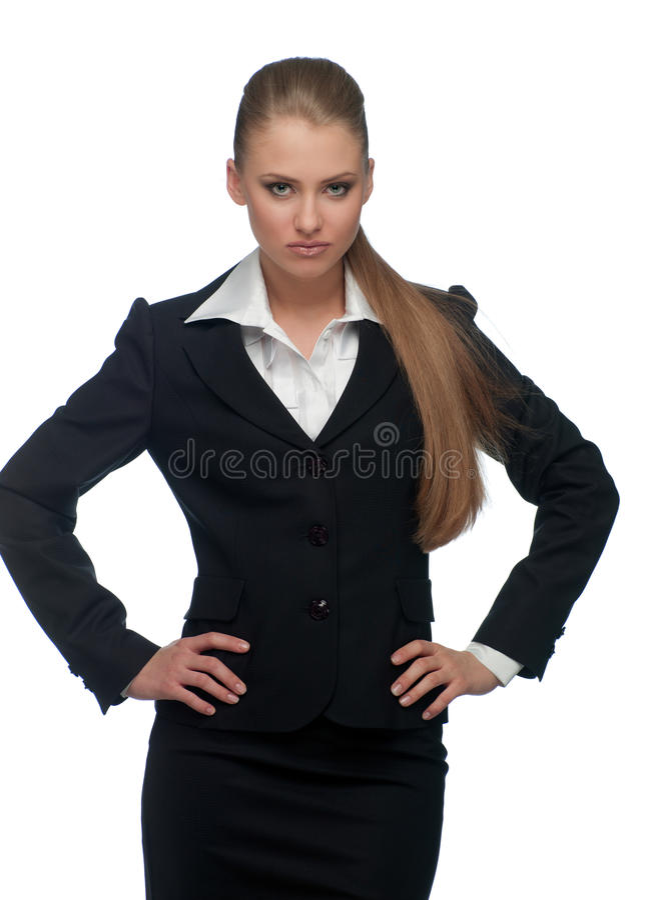 Gerente da mulher em um terno foto de stock