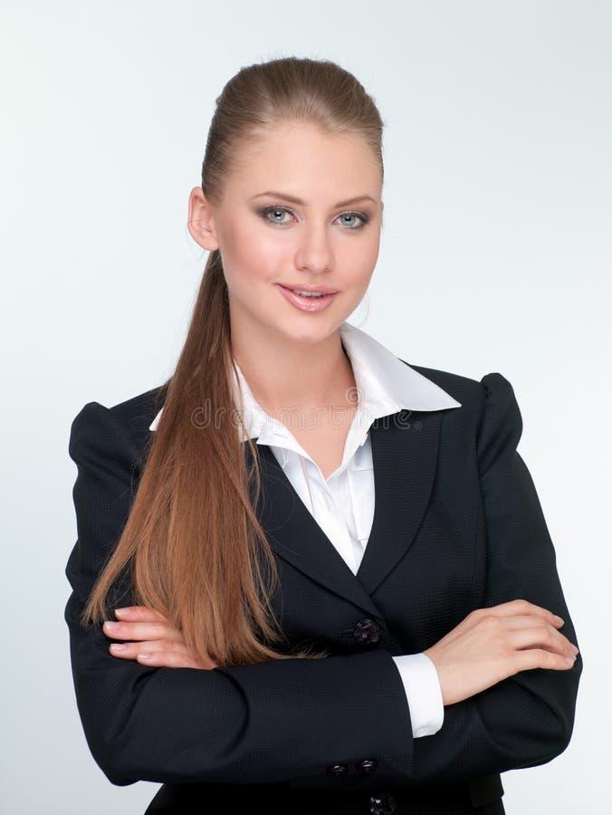 Gerente da mulher em um terno fotos de stock