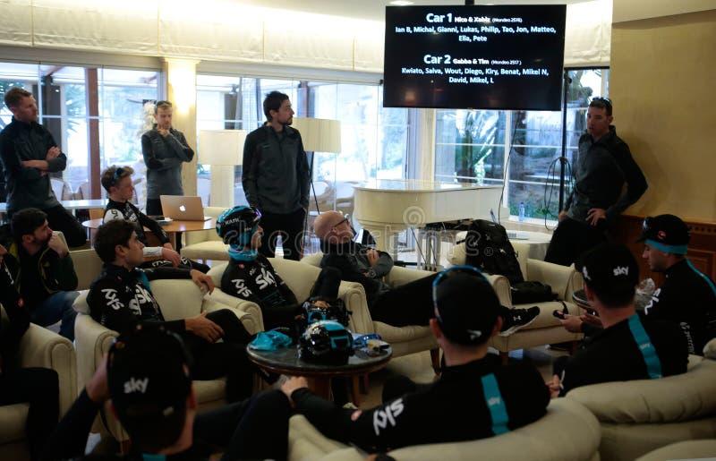 Gerente Dave Brailsford do ciclismo de Team Sky imagens de stock royalty free