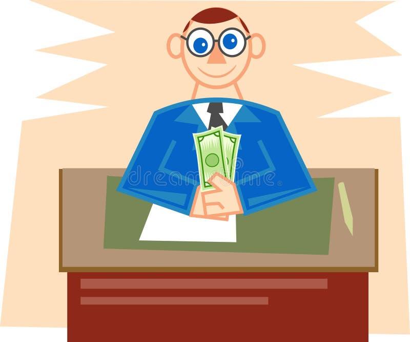 Gerente de banco ilustração stock