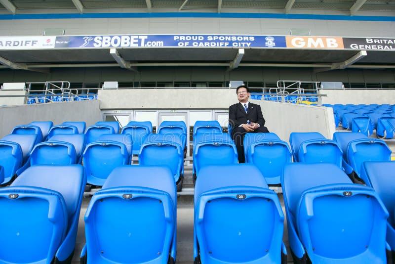 Gerente do futebol - cidade FC de Cardiff fotografia de stock