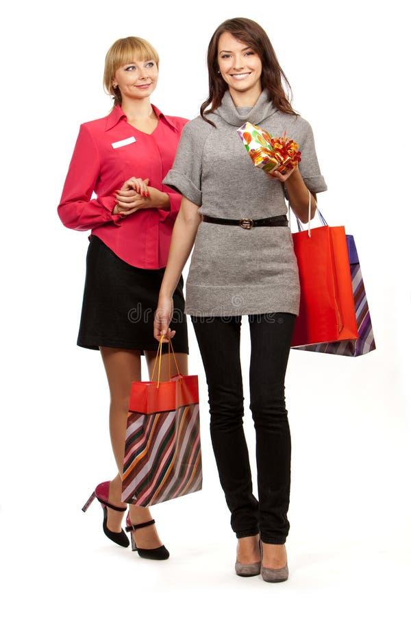 Gerente e cliente da loja imagens de stock