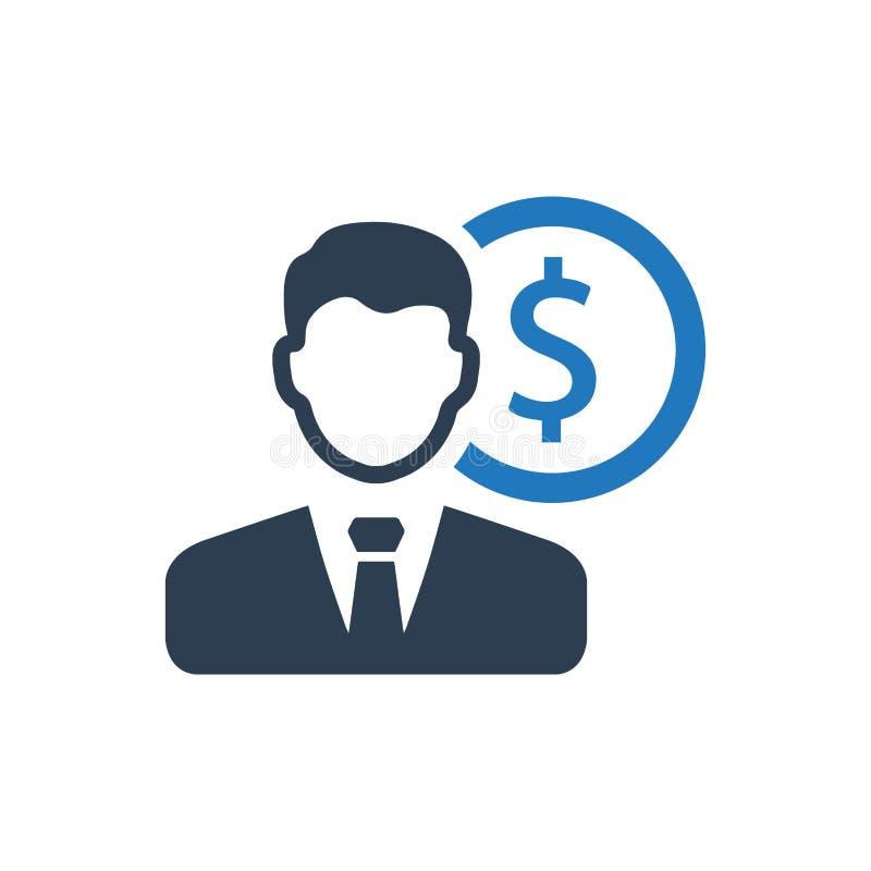 Gerente financeiro Icon ilustração royalty free