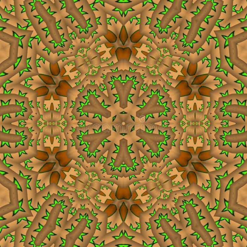 Gerente leaf abstract digital art. Browns abstract digital art  with gerente leafs vector illustration