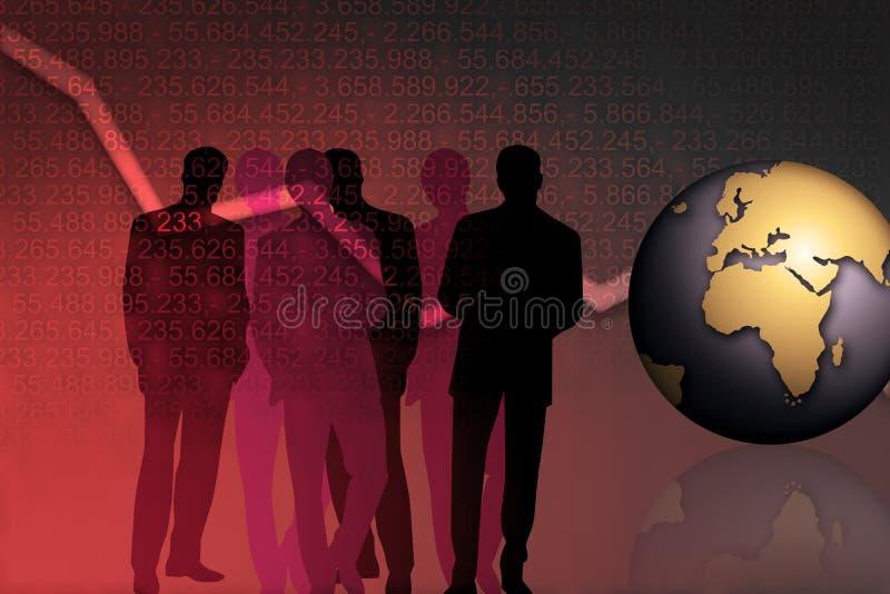Gerentes de operação bancária ilustração do vetor
