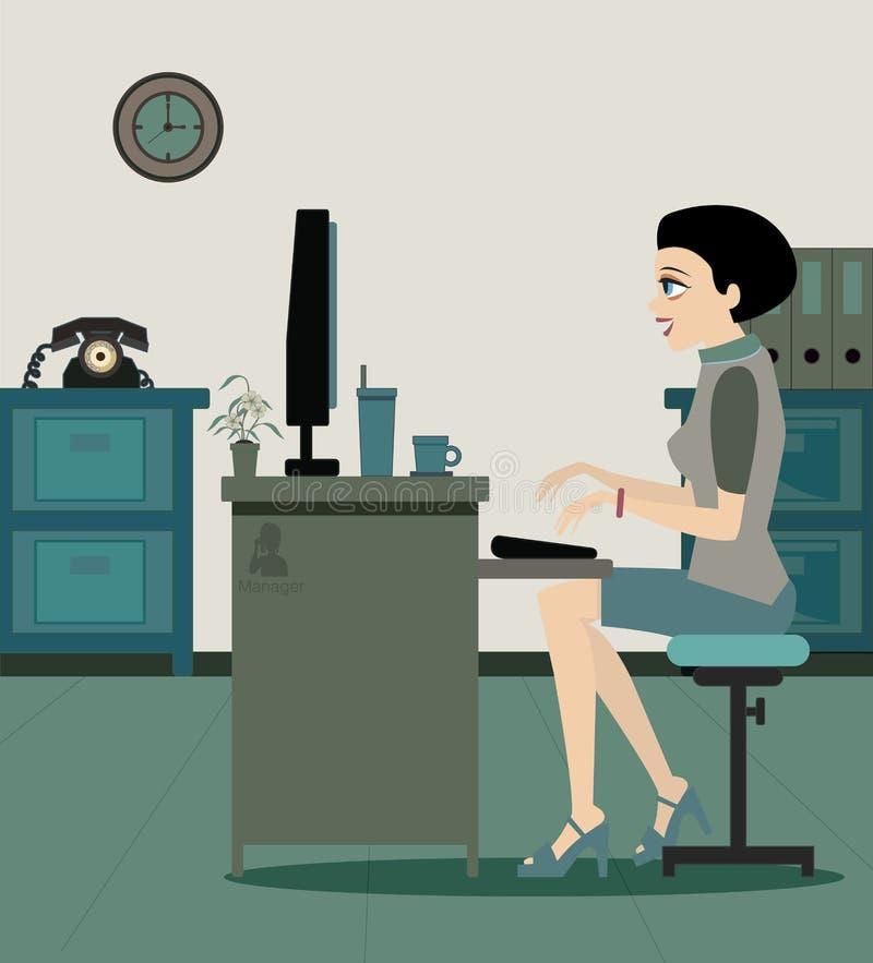 Gerentes fêmeas. ilustração royalty free