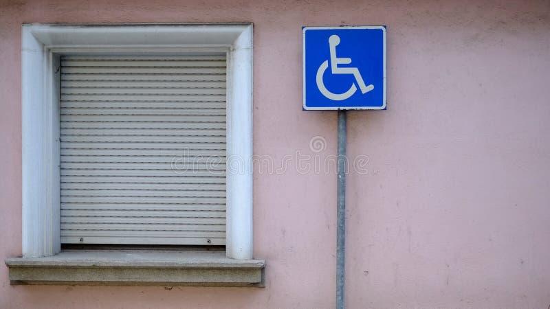 Gereserveerd slechts voor gehandicapten royalty-vrije stock foto's