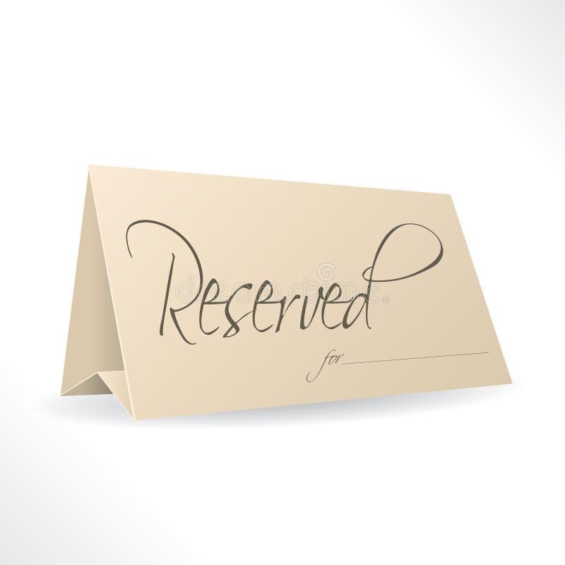 Gereserveerde nota met plaats voor naam stock illustratie