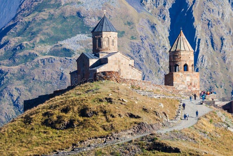 Gergeti领港教会 库存图片