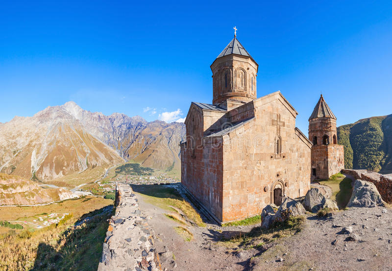 Gergeti Trinity Church royalty free stock image