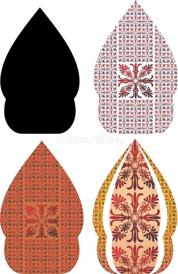 Gergunung jest javanese projektem dla wayang kulit obrazy stock