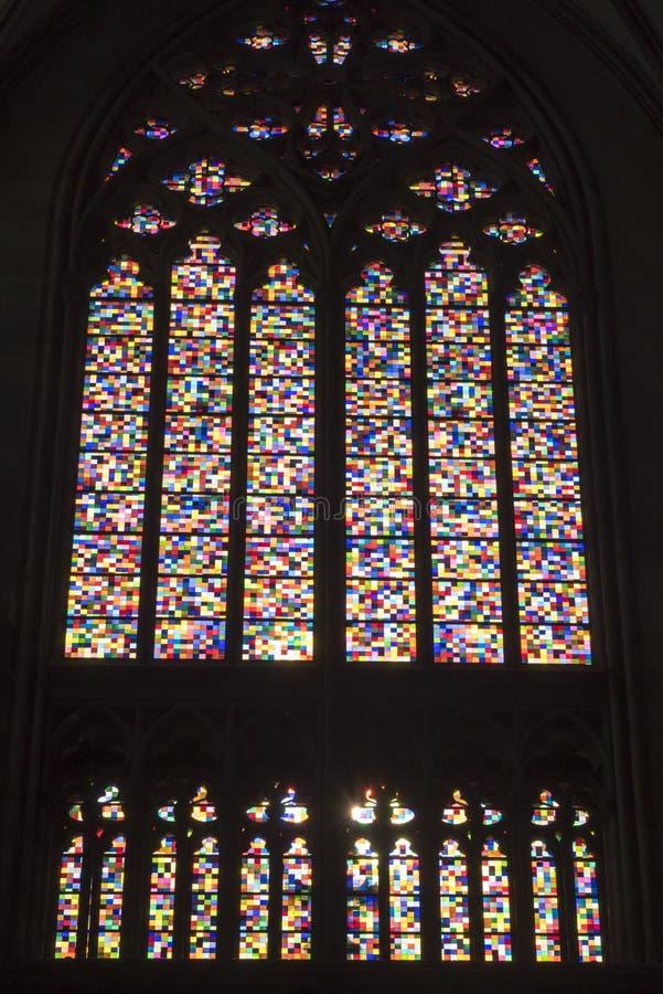 Gerhard Richter - λεκιασμένος καθεδρικός ναός παραθύρων γυαλιού της Κολωνίας στοκ φωτογραφία