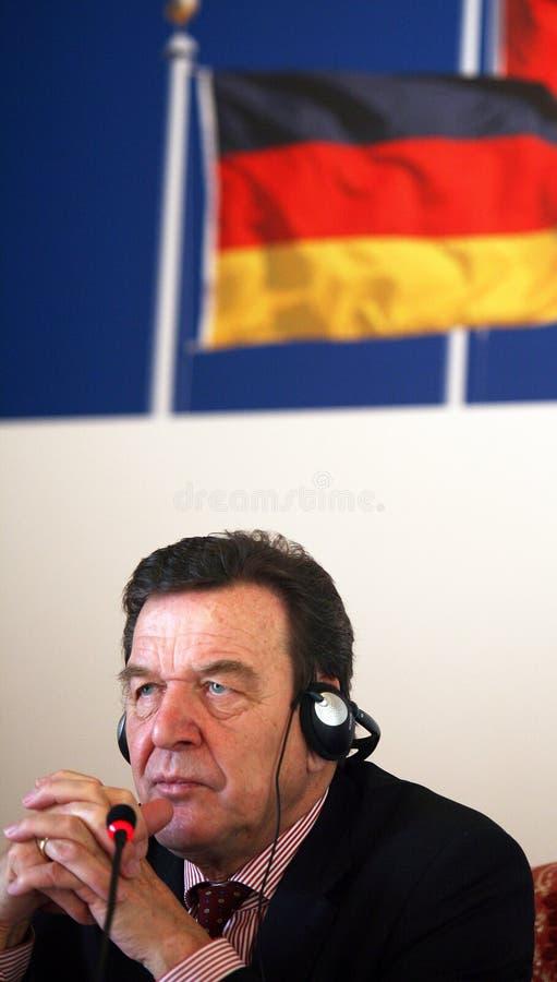 Gerhard Schroder-Porträt stockfotografie