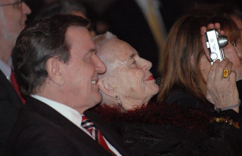 Gerhard Schroeder, Aude Einstein zdjęcia royalty free
