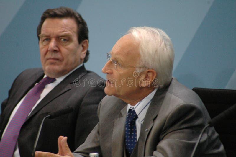 Gerhard Schroeder, Edmund Stoiber stockfotos