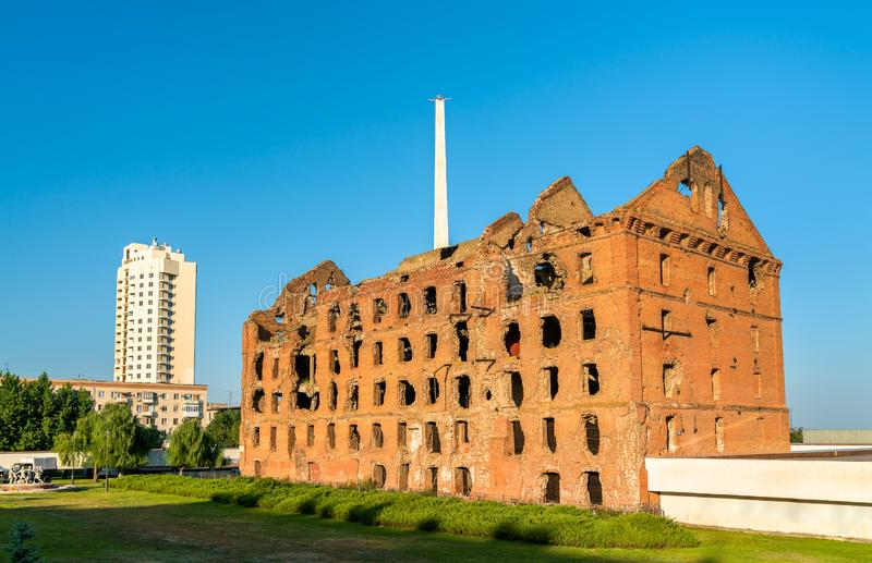 The Gerhardt Mill ruined during the Battle of Stalingrad. Volgograd, Russia stock photos