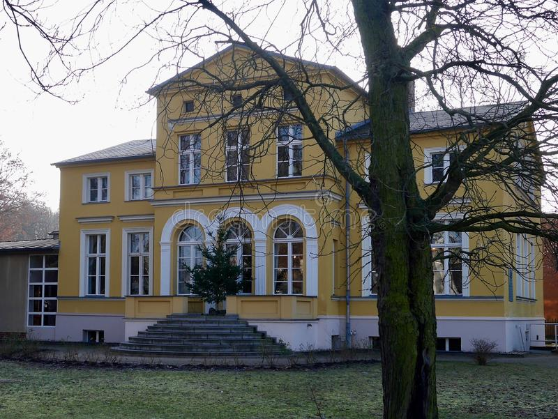 Gerhart Hauptmann Haus museum in Erkner. Brandenburg ,Germany, a famous dramatist and novelist and winner of the Nobel Prize in Literature in 1912 royalty free stock image