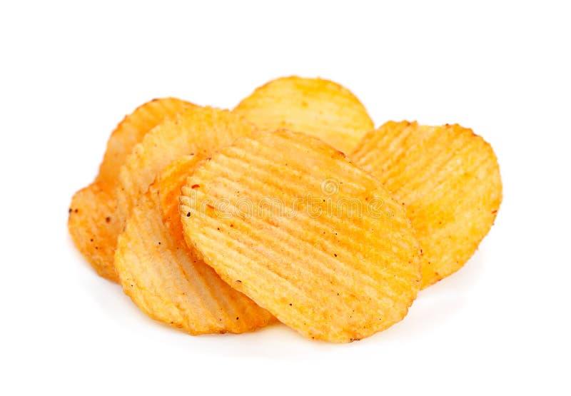 Geribbelde aardappelssnack royalty-vrije stock fotografie