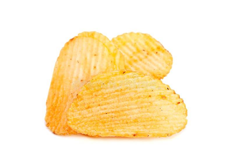 Geribbelde aardappelssnack stock fotografie