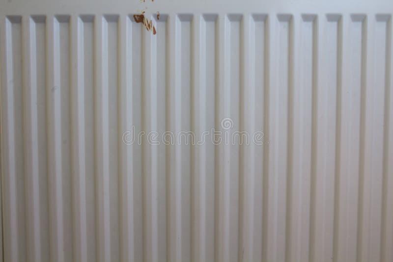 Geribbelde bladverwarmer van het verwarmingssysteem stock afbeelding