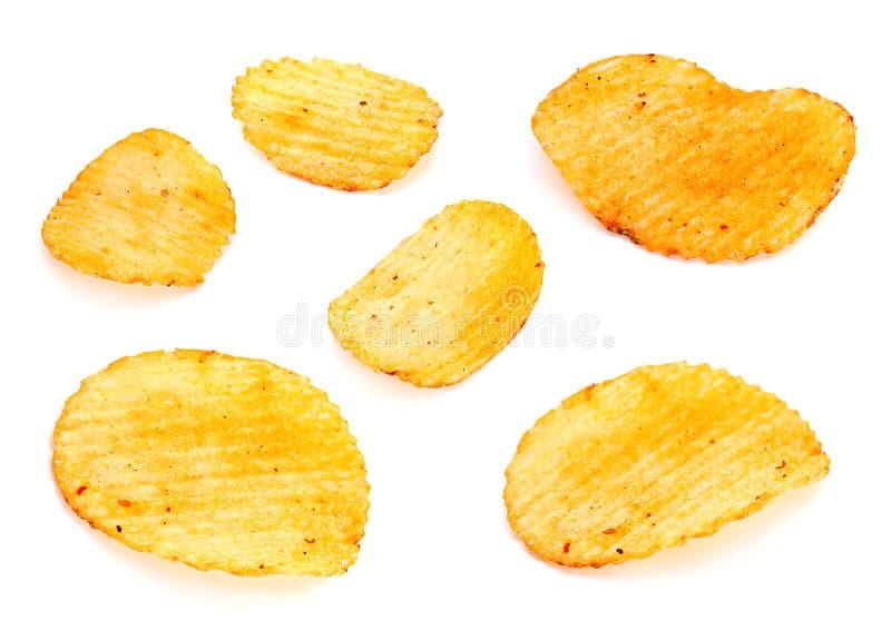 Geribbelde geplaatste aardappels royalty-vrije stock afbeeldingen