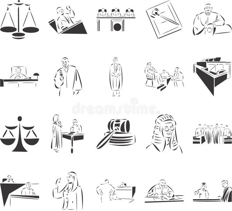Gericht lizenzfreie abbildung