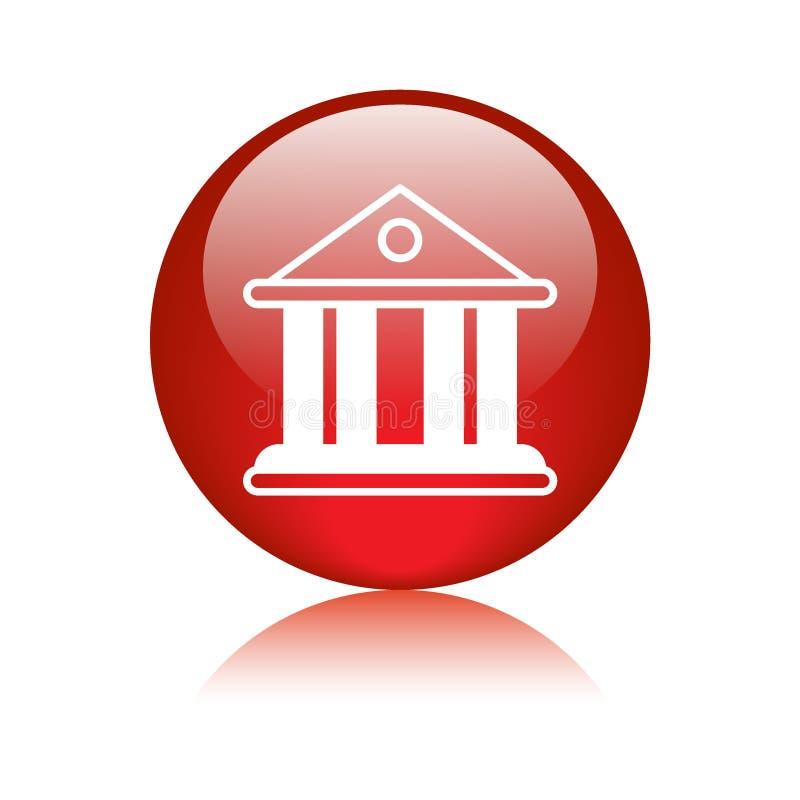 Gericht/Bankgebäudeikone stock abbildung