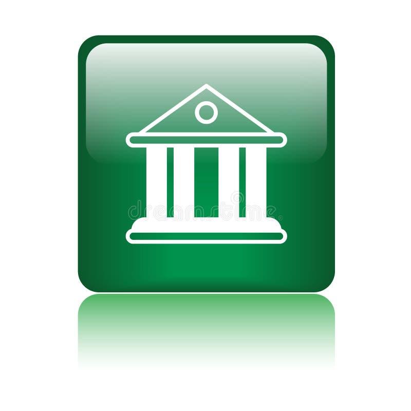 Gericht/Bankgebäudeikone lizenzfreie abbildung