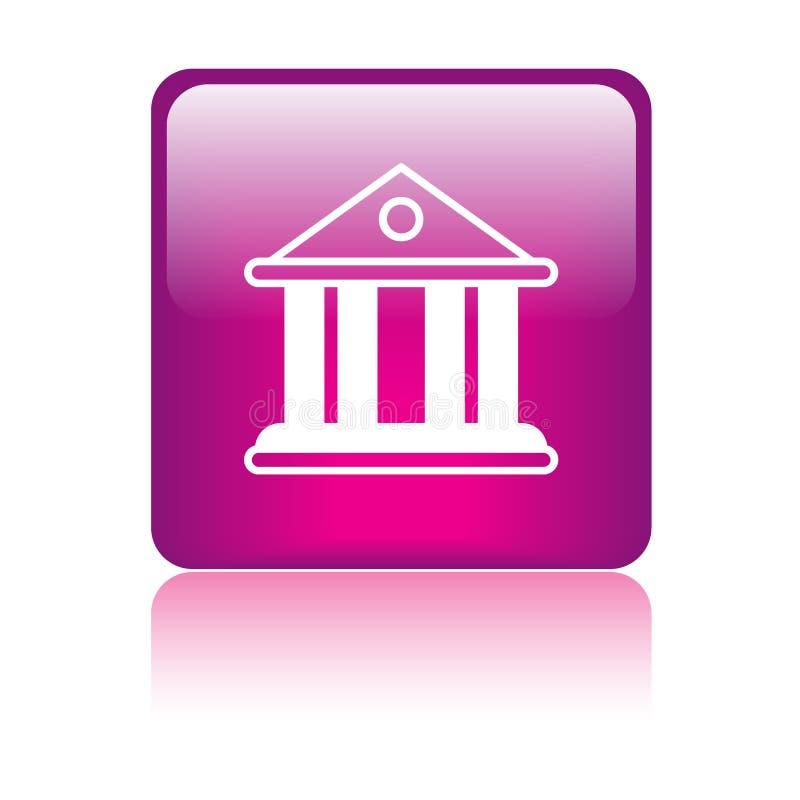 Gericht/Bankgebäudeikone vektor abbildung