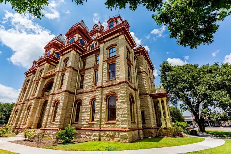 Gericht bei Lockhart, Texas stockbilder