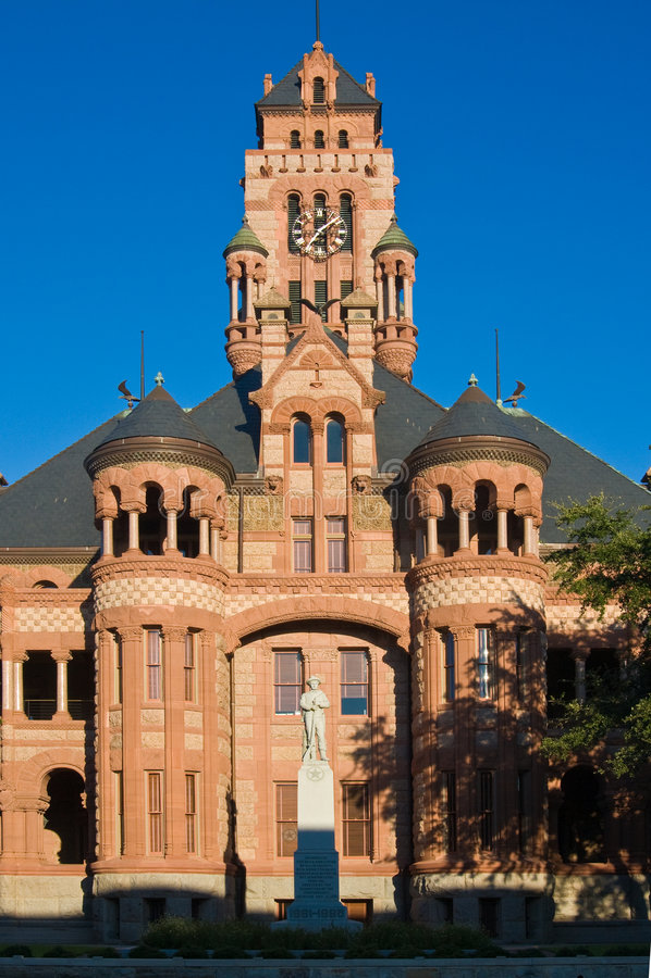 Gericht in Waxahachie, Texas stockfotografie