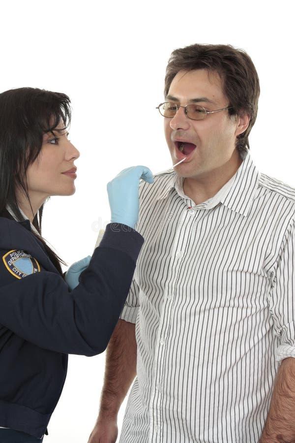 Gerichtliche DNA-Prüfung lizenzfreies stockbild