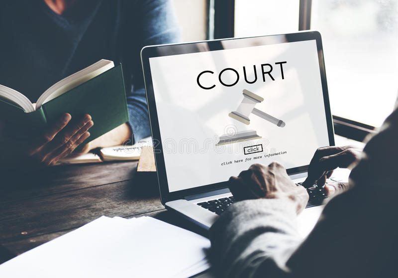 Gerichts-Berechtigungs-Verbrechen-Richter-Law Legal Order-Konzept lizenzfreie stockfotos