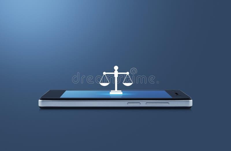 Gerichtsdienst-on-line-Konzept des Gesch?fts vektor abbildung