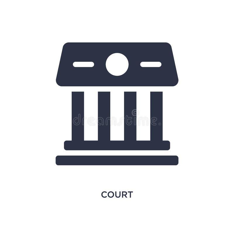 Gerichtsikone auf weißem Hintergrund Einfache Elementillustration vom Gesetzes- und Gerechtigkeitskonzept vektor abbildung