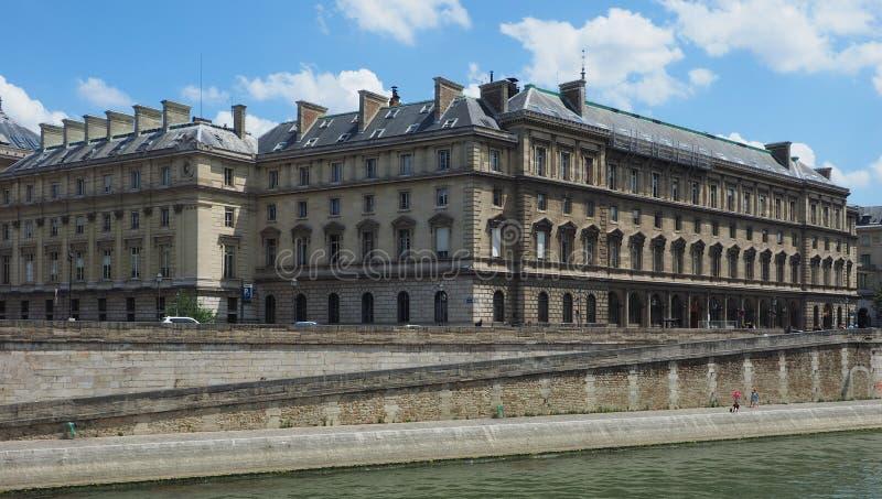 Gerichtspolizeihauptquartier in Paris lizenzfreies stockbild