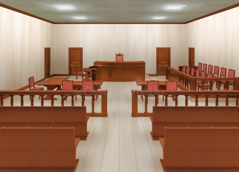 Gerichtssaal lizenzfreie abbildung