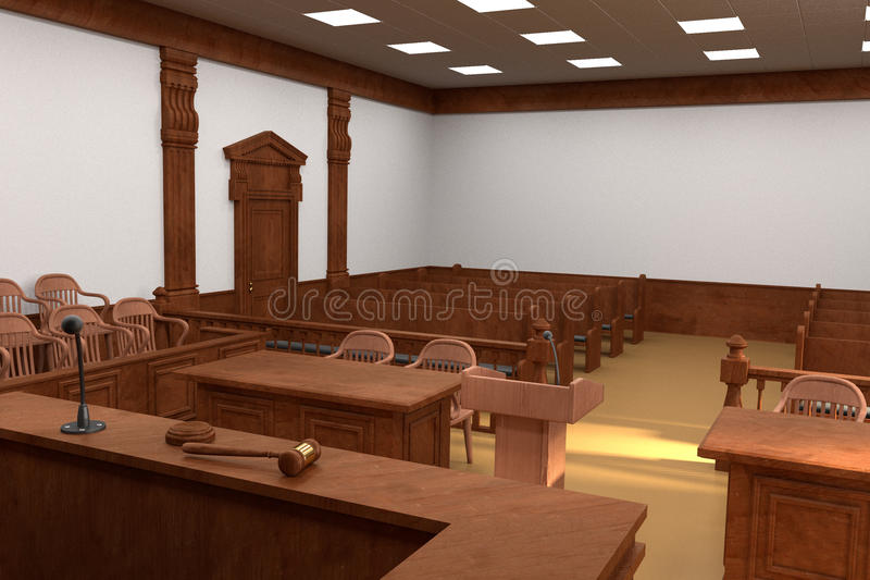 Gerichtssaalbank stock abbildung