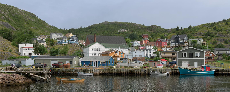 Geringfügiger Hafen in Neufundland stockbild