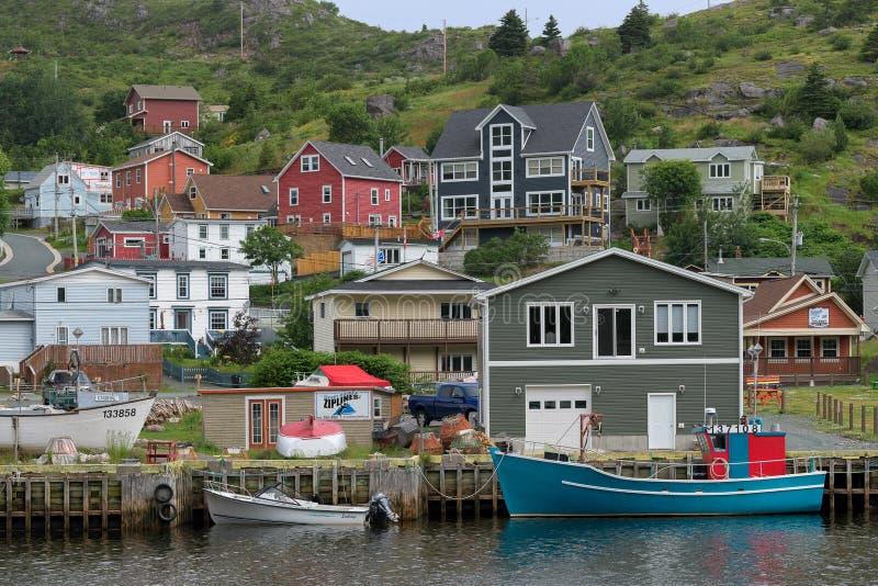 Geringfügiger Hafen in Neufundland lizenzfreie stockfotografie