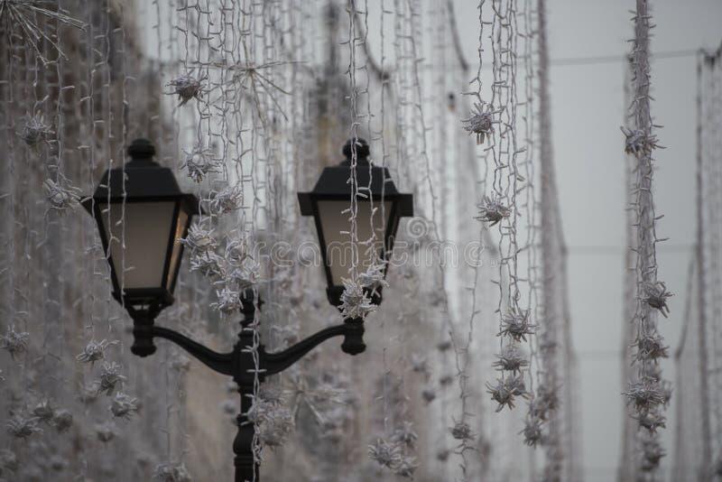 Gerjanda non brûlé toujours de blanc et une lanterne photographie stock libre de droits