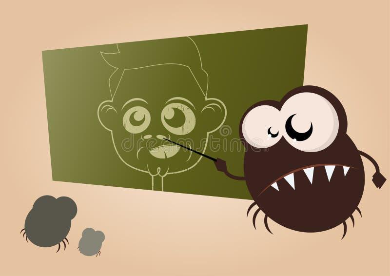 Germ school vector illustration