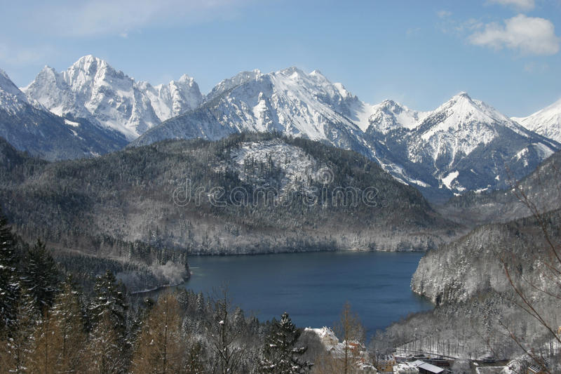 German Alps royalty free stock photography