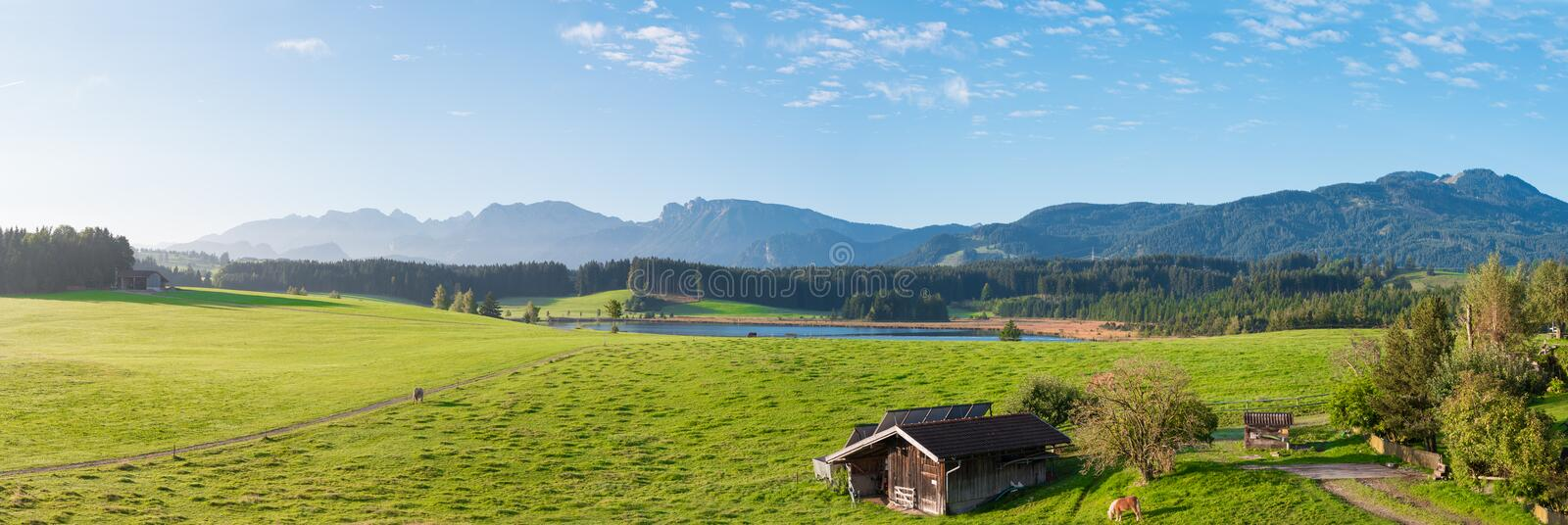 German Alps Allgäu Panorama royalty free stock image