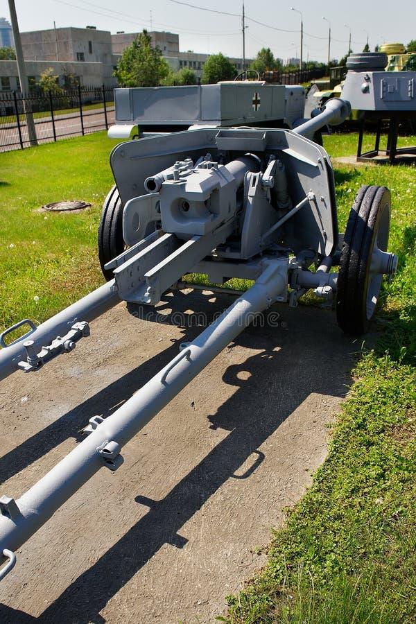 German anti-tank gun Pak 38 75 mm sample in 1942 royalty free stock photo