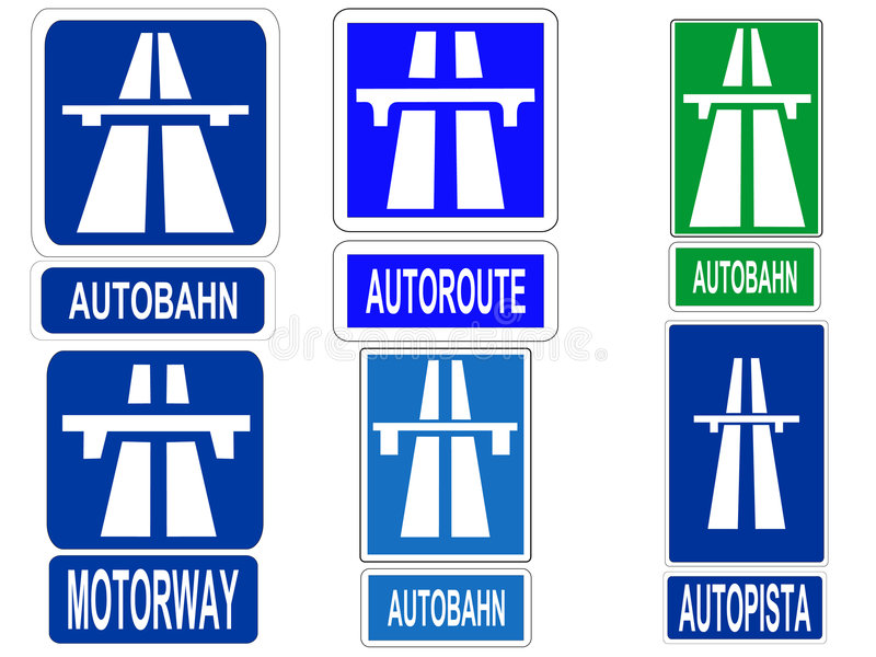 German Autobahn sign royalty free illustration