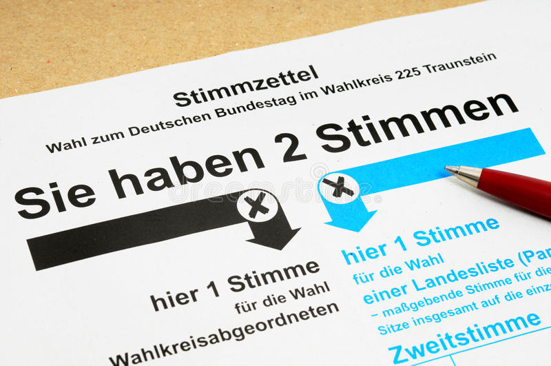 Download German ballot stock photo. Image of vote, checkbox, election - 23729968