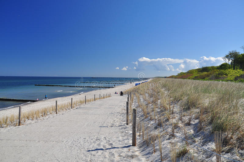 Download German Beach And Blue Sky, Fischland Darss, Baltic Stock Photo - Image of ostsee, blue: 40463758