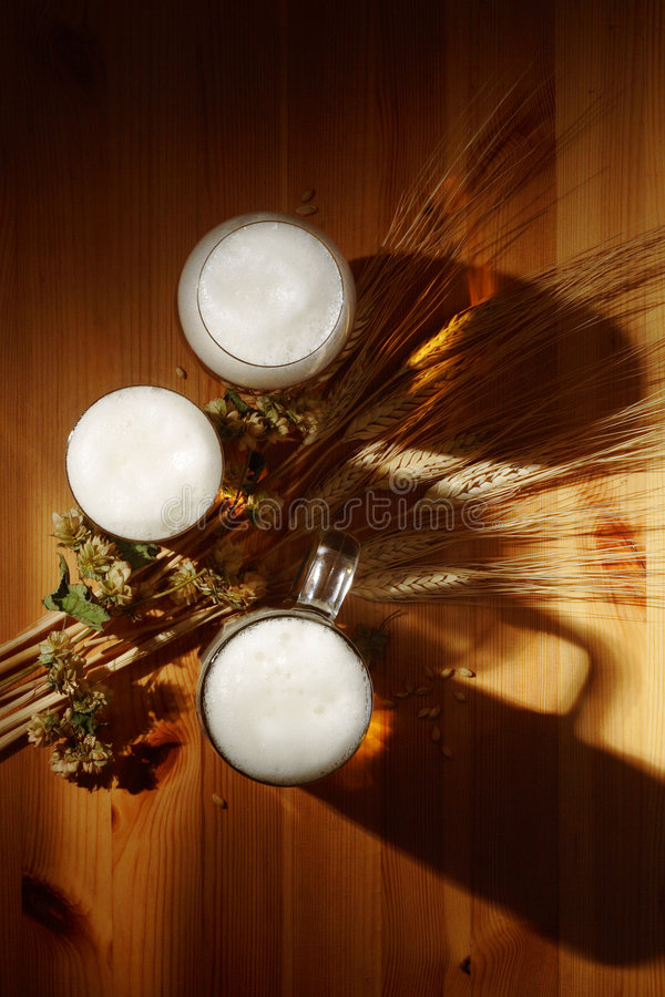 German Beer. Beer from Upper Franconia in the tendencyful light photographs stock photography